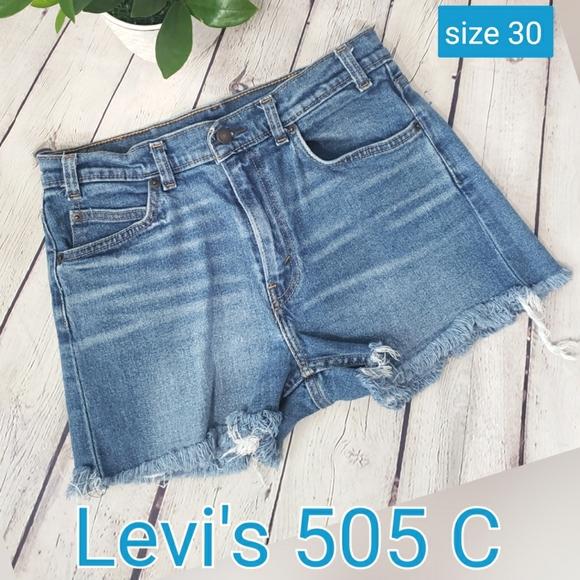 Levi's 505 C Orange Tab Women's Short size W30